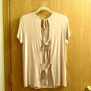 Pastel Pink Open Back Top